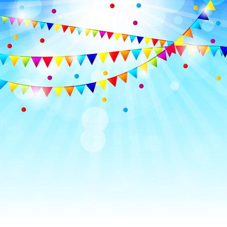 Gekleurde ballonnen achtergrond, Vector Illustratie. Stock Illustratie