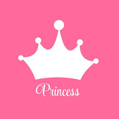 Prinses Achtergrond met Kroon Vector Illustratie EPS10