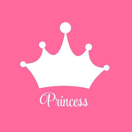 Princess  Background with Crown Vector Illustration EPS10