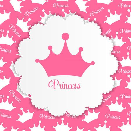 プリンセス クラウン ベクトル イラスト EPS10 と背景