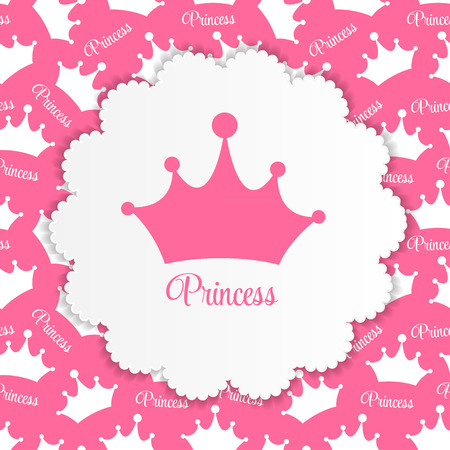 tiara: Princess  Background with Crown Vector Illustration EPS10