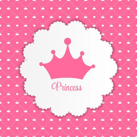 corona reina: Princesa de fondo con ilustraci�n vectorial Corona