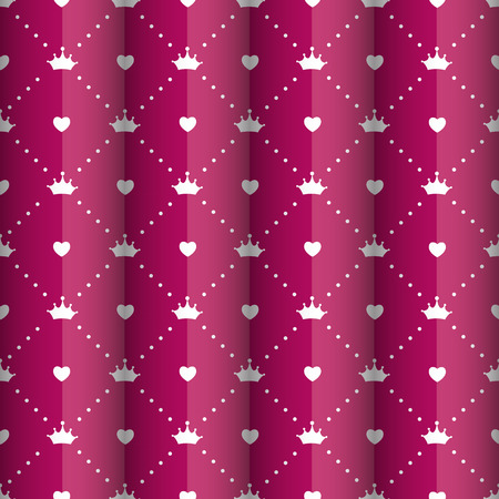 princess: Princess Seamless Pattern Background Vector Illustration Illustration