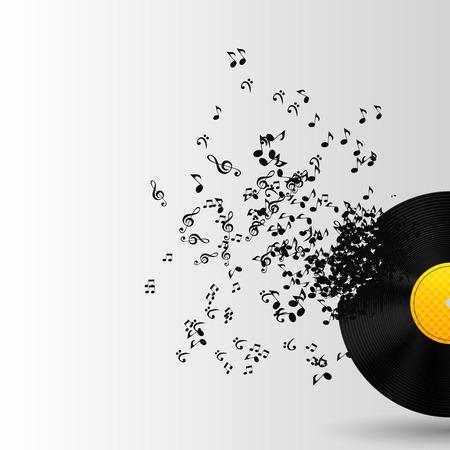 electronica musica: Resumen de m�sica de fondo ilustraci�n vectorial para su dise�o EPS10