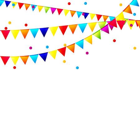 Fondo del partido con la ilustración de las banderas del vector.