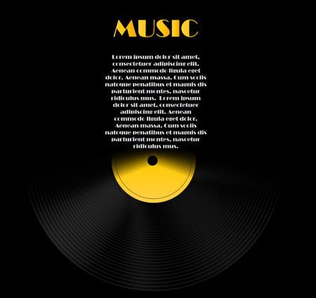 hi fi: Abstract Music Background Vector Illustration for Your Design Illustration