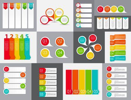 sjabloon: Grote set van Infographic Banner sjablonen voor uw bedrijf Vector Illustratie