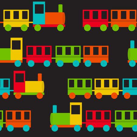 Children\'s Train Seamless Pattern