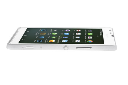 sony: Minsk, Belarus - March 14 2015: Smartphone Sony Xperia SP Isolated on White Background Editorial
