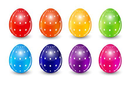 Beautiful Easter Egg Set Vector Illustration