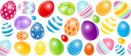 Beautiful Easter Egg Seamless Pattern Background Vector Illustra