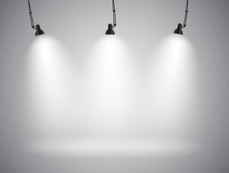 Background with Lighting Lamp. Empty Space for Your Text or Object. EPS10 Vettoriali