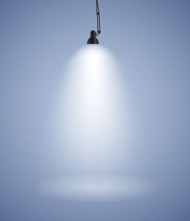 Background with Lighting Lamp. Empty Space for Your Text or Object. EPS10 Stock Vector - 38379983