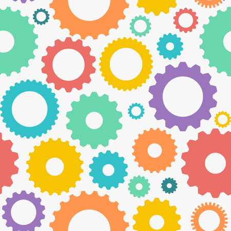 engine: Gear Icon Seamless Pattern Vector Illustration EPS10