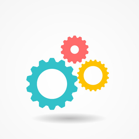 cogs and gears: Gear Icon Vector Illustration EPS10