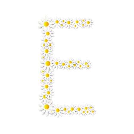 illustartion: Flora Daisy Design Alphabet Vector Illustartion Illustration