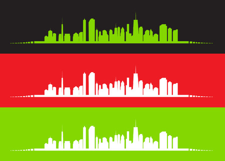 city location: vector illustration of cities silhouette