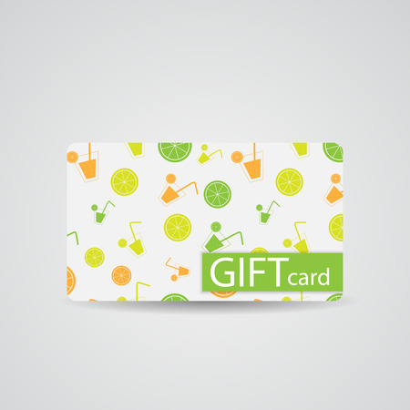 Abstract Beautiful Drink Gift Card Design, Vector Illustration. Vector