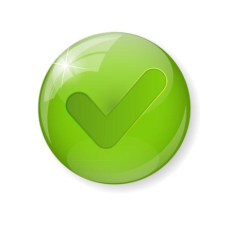 green check mark: Green Check Mark Icon Button Vector Illustration Illustration