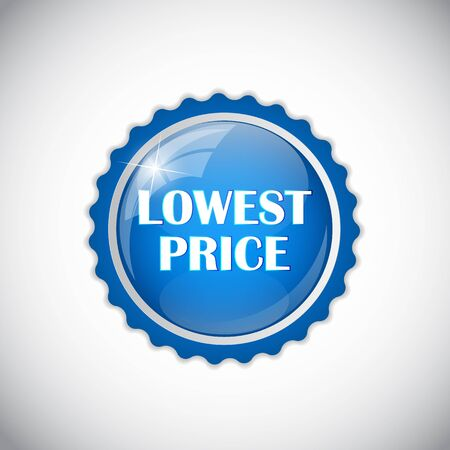 lowest: Lowest Price Golden Label Vector Illustration