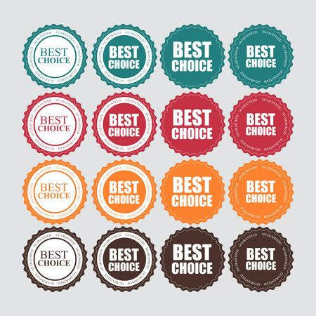 win: Best Choice Label with Ribbon Vector Illustration