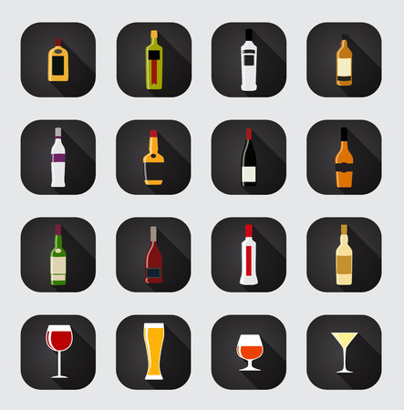vermouth: Modern Flat Dink Icon Set for Web and Mobile Application in Styl