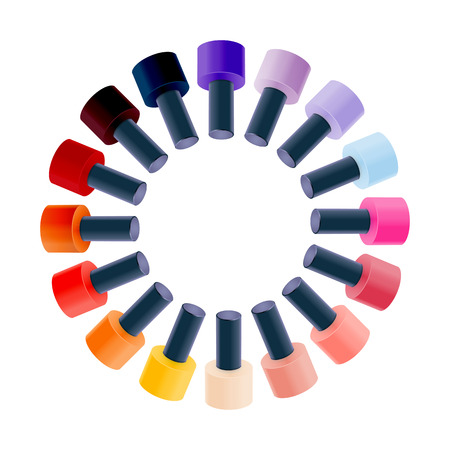 Realistic Nail Polish Vector Illustration Vector