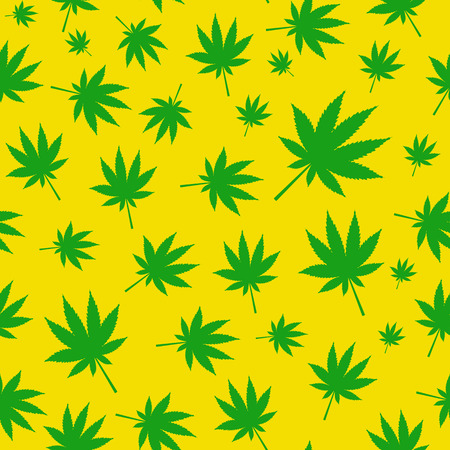 canabis: Abstract Cannabis Seamless Pattern Background Vector Illustratio