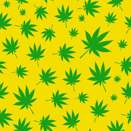 rastafarian: Abstract Cannabis Seamless Pattern Background Vector Illustratio