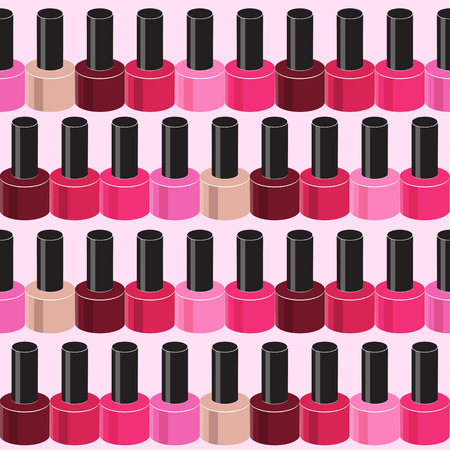 Realistic Nail Polish Seamless Pattern Background Vector Illustr Vector