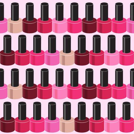 toenail: Realistic Nail Polish Seamless Pattern Background Vector Illustr Illustration