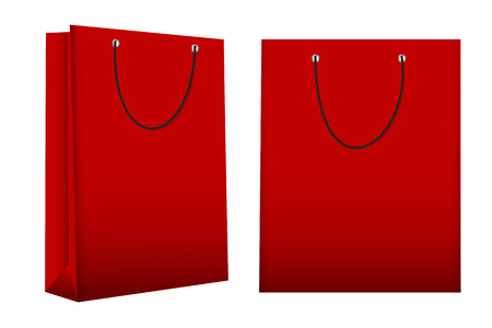 illust: Shopping Bag Template for Advertising and Branding Vector Illust