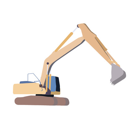 dredging tools: Working Excavator. Isolated