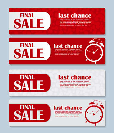 place for your text: Sale Banner with Place for Your Text. Vector Illustration