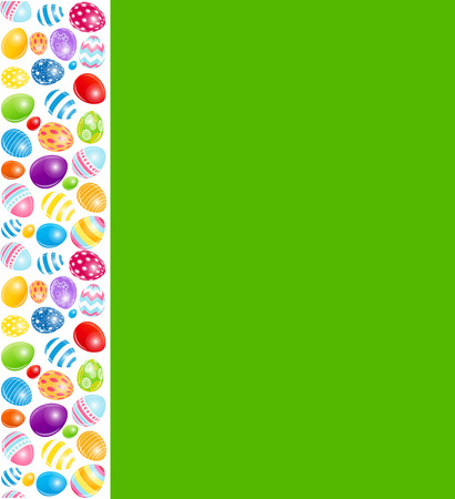 pasqua: Beautiful Easter Egg Menu Vector Illustration
