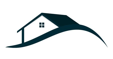 manor house: Houses Logo Vector Illustration