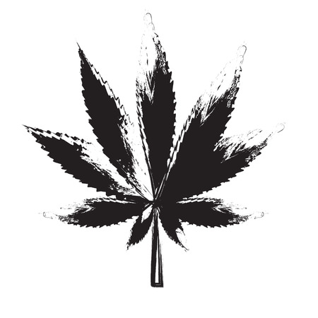 Abstract Cannabis achtergrond vector illustratie