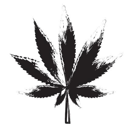 hoja marihuana: Resumen de cannabis ilustración de fondo vector