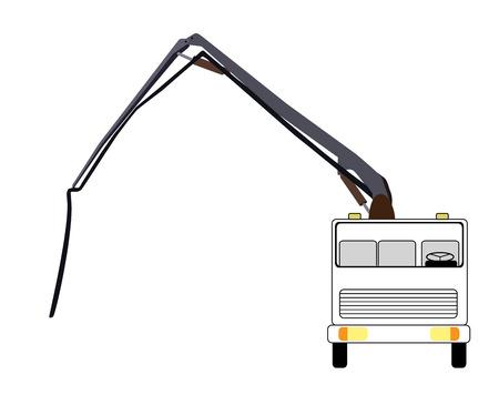 concrete pump: Machine Concrete Pump. Vector Illustration.