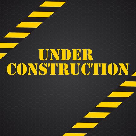 tractor warning sign: Under Construction. Vector Illustration