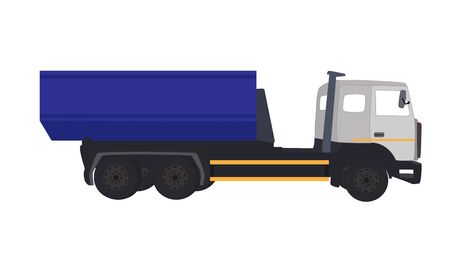 multiple lane highway: Most Car Truck. Vector Illustration. Illustration