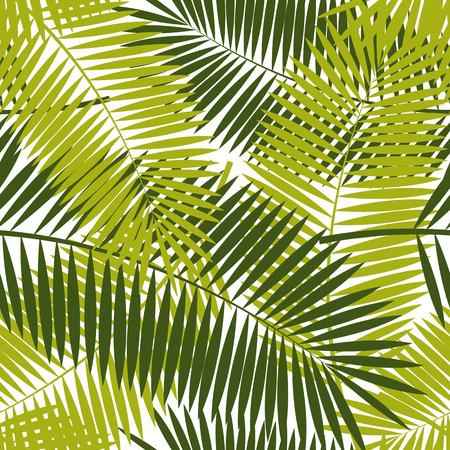 Palm Leaf Seamless Pattern Background Vector Illustration Banco de Imagens - 40048817