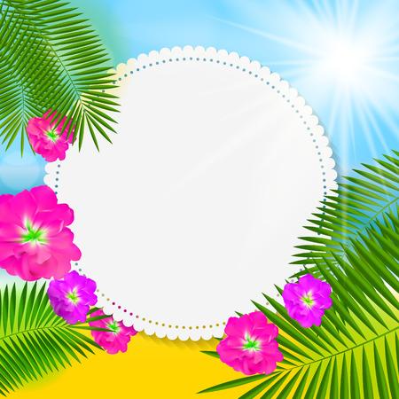 fondo natural: Verano Fondo Natural Ilustraci�n Vector