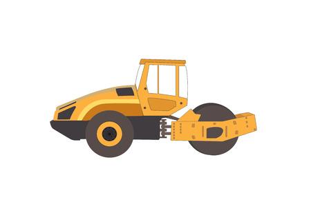 hydraulic platform: Pis�n. Mayor Construcci�n. Pista de Asfalto. Ilustraci�n del vector.