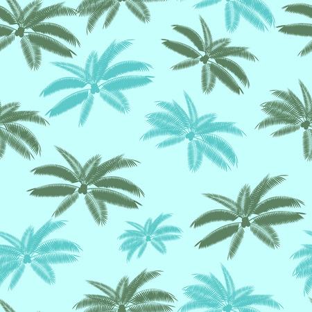 cartoon palm tree: Palm Leaf Seamless Pattern Background Vector Illustration