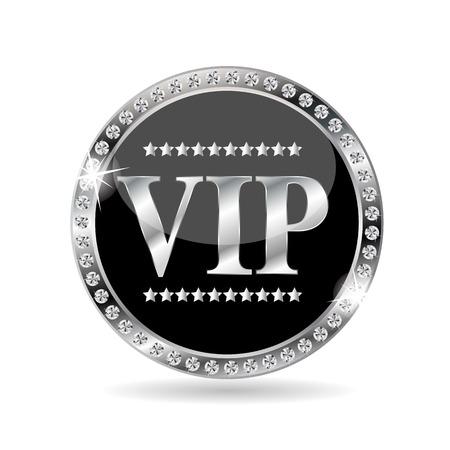 vip symbol: VIP Members Label Vector Illustration Illustration