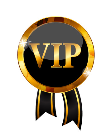 high society: VIP Members Label Vector Illustration Illustration