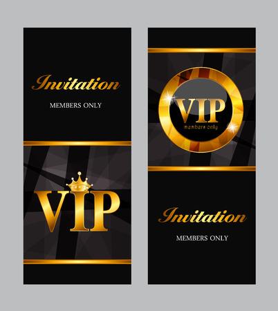 high society: VIP Members Card Vector Illustration Illustration