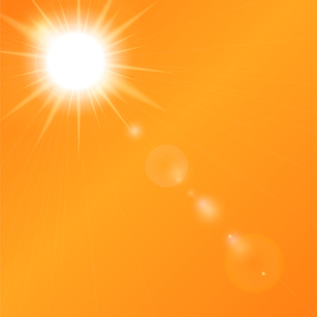 Natural Sunny  Background Vector Illustration