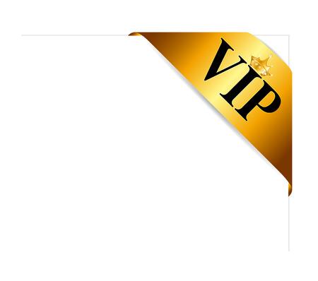 ribon: VIP Ribon on Card Vector Illustration Illustration